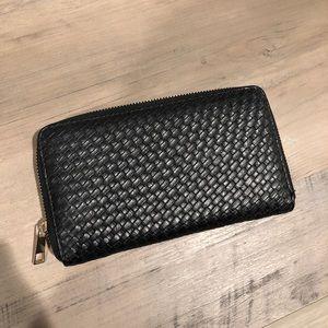 Woven Black Wallet